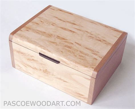 Handmade Keepsake Box - handmade wood box wood keepsake box karelian birch burl