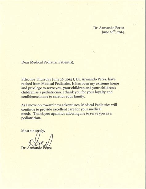 Cancer Patient Goodbye Letter About Us Arlington Heights Il Pediatrics Ltd