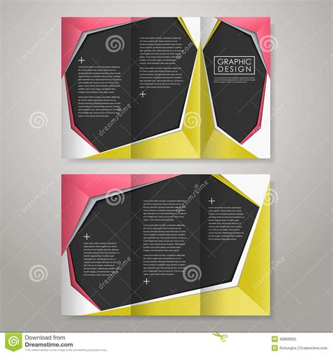 Tri Fold Brochure Paper Stock - paper style design for tri fold brochure stock vector