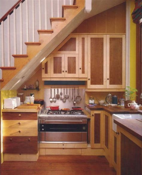 25 Clever Under Stairs Ideas To Optimize The Leftover Stairs Kitchen Design