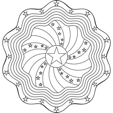 don t eat the paste stars and stripes mandala coloring page
