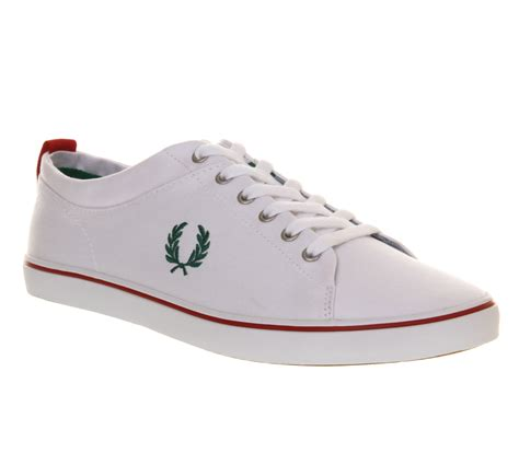 fred perry shoes fred perry hallam white privet trainers shoes ebay