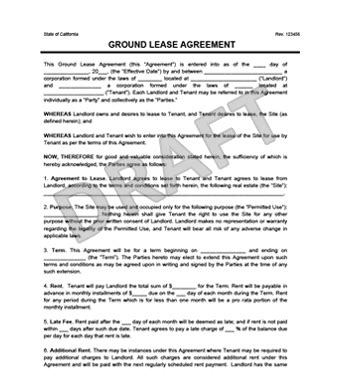 Transfer Letter On Ground Ground Lease Agreement Print Templates