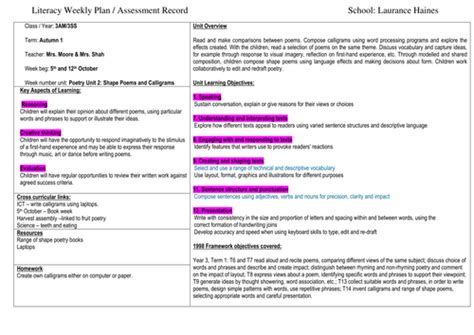 year 1 poetry pattern and rhyme planning shape and rhyme poems year 2 by uk teaching resources