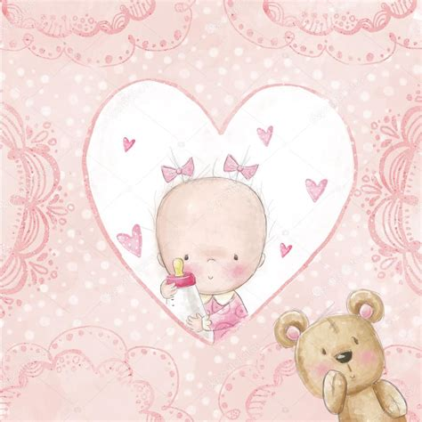 Baby Shower E Card by Baby Shower Greeting Card Baby With Teddy