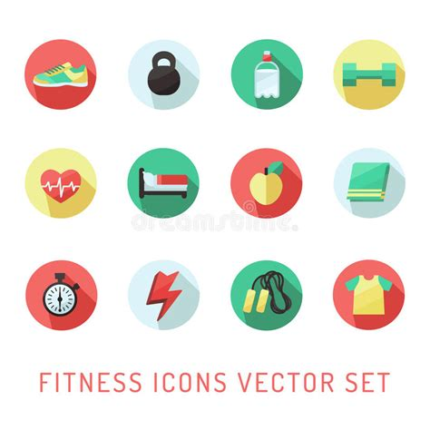 retro style pet icons set vector free download fitness and sport circle icon multicolored vector set