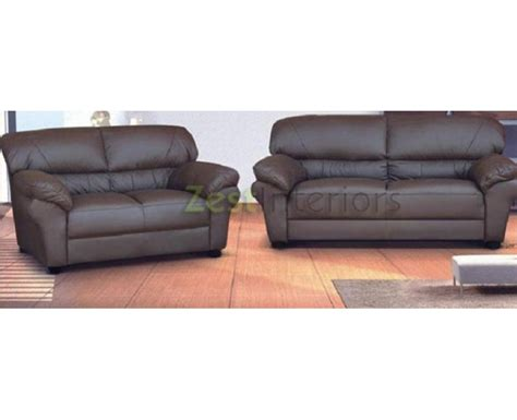 brown leather 3 and 2 seater sofa polo three two seater sofa set brown faux leather