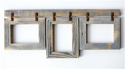 7 picture collage frame barnwood collage frame 3 5x7 multi opening frame rustic