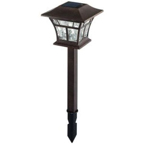 home depot hton bay solar lights hton bay solar powered led flemish copper mission path