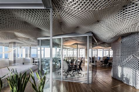 meshed cloud office ceilings office ceiling