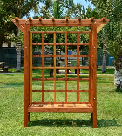 arbor with bench garden arbor bench custom wood arbor forever redwood