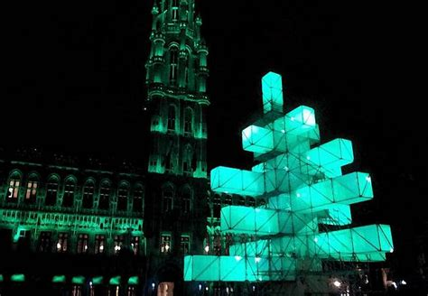 tree light installation tree light installation in brussels design is
