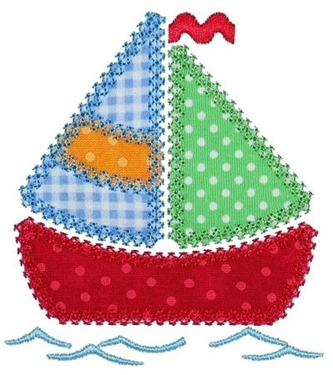 Patchwork Applique Patterns Free - applique patterns embroidery patchwork sail boat