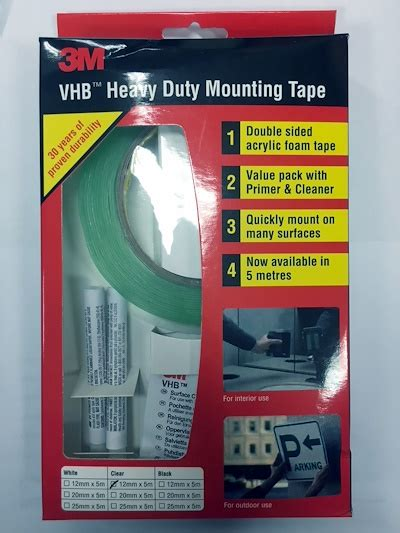 Vhb 3m Usa 12 Mm qoo10 3m vhb heavy duty mounting value pack 12mm x 5m sided furniture deco