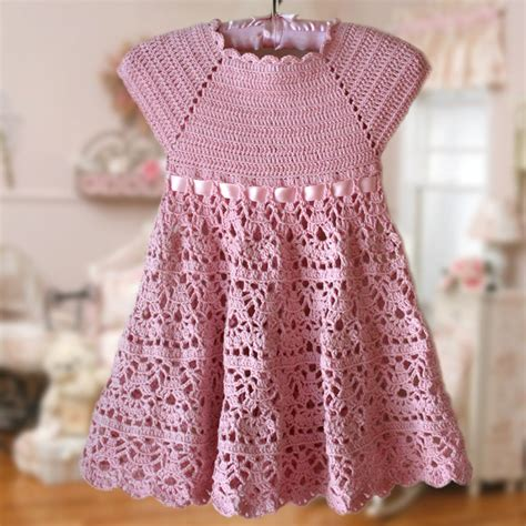 pattern dress crochet pink lace dress crochet pattern flower girl dress pink