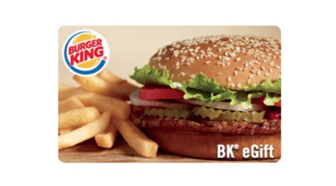 Burger King Gift Card - 25 burger king egift card for 20
