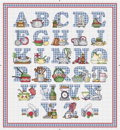 schema punto croce cucina schema punto croce alfabeto cucina in cucina