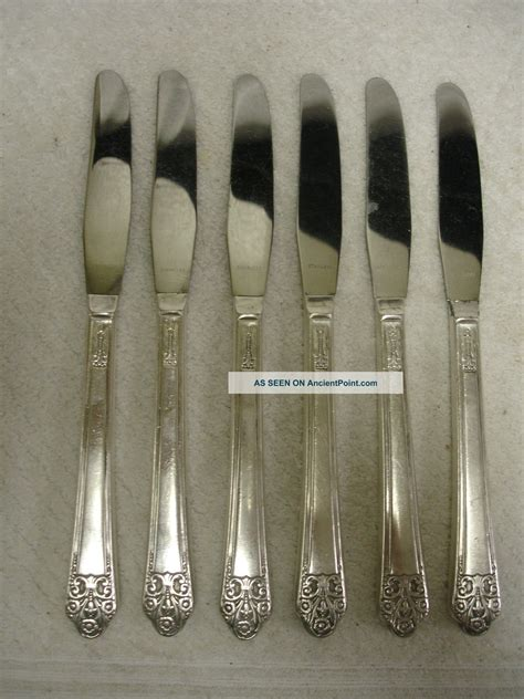 Ck Date Set Silver Plat Black silver plated flatware value black models picture