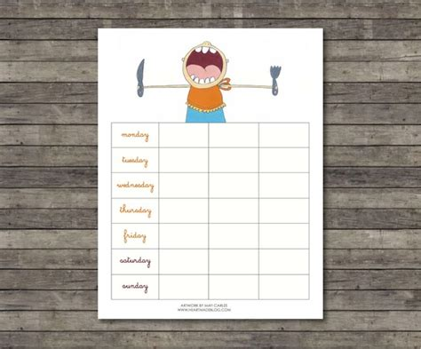 pretty printable meal planner 7 best images of cute free printable meal planner free
