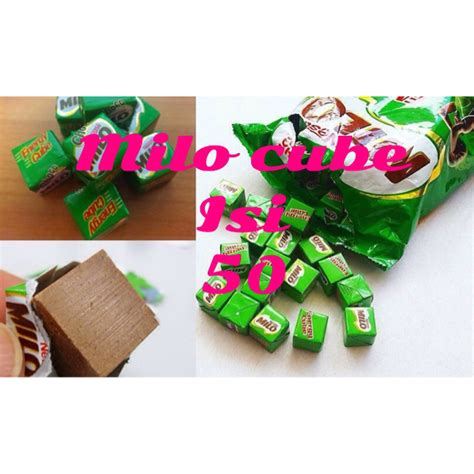 Milo Cube Isi 50 By 8qq Snack milo cube nestle energy isi 50 cubes per pack minuman