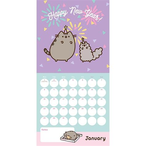 Next Home Wall Stickers pusheen 2018 wall calendar kawaii panda making life cuter