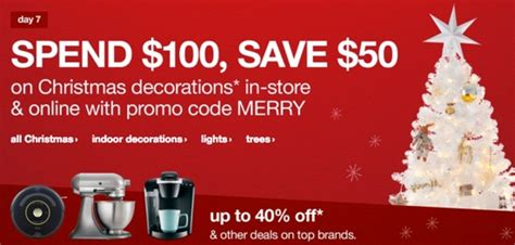 promo code walmartcom christmas tree target spend 100 on decor lights trees save 50 with coupon code