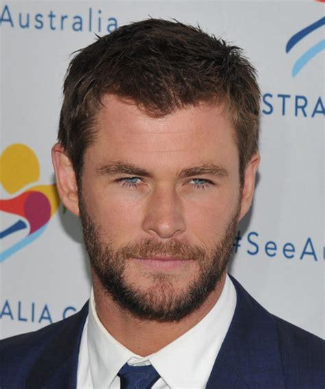 Chris Hemsworth Short Straight Casual Hairstyle   Medium