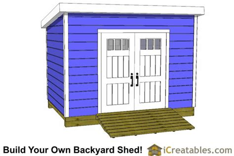 How To Build A 8x12 Shed by 8x12 Lean To Shed Plans Storage Shed Plans Icreatables