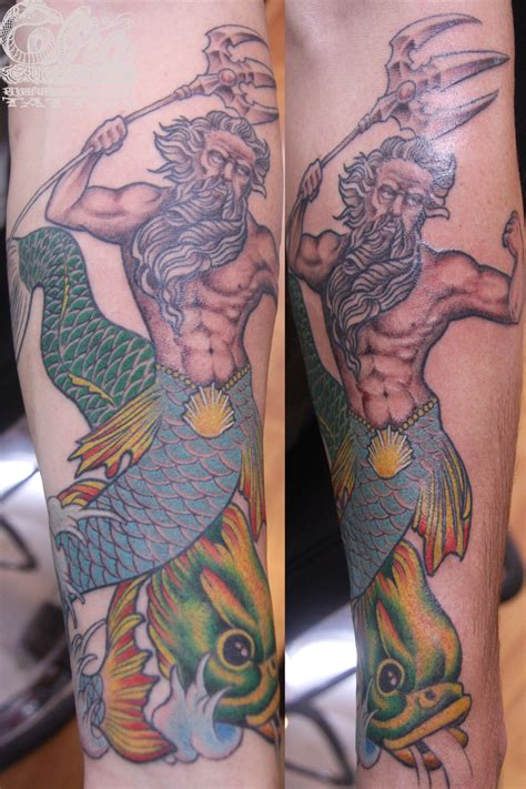 tattoo pictures of king neptune neptune with trident cake ideas and designs