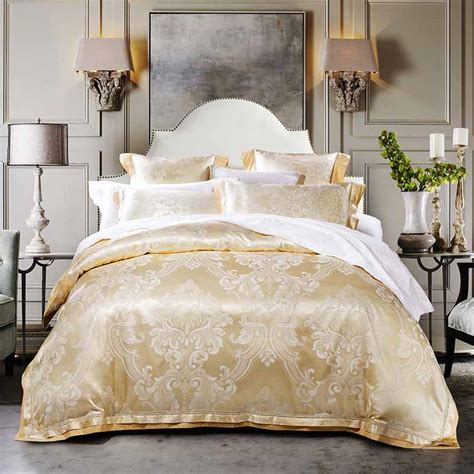 beige king size comforter sets aliexpress com buy 4 6pcs beige jacquard silk bedding