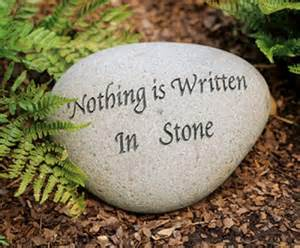 Garden Rocks With Sayings Oxymoron On Warning Signs Road Signs And Signs