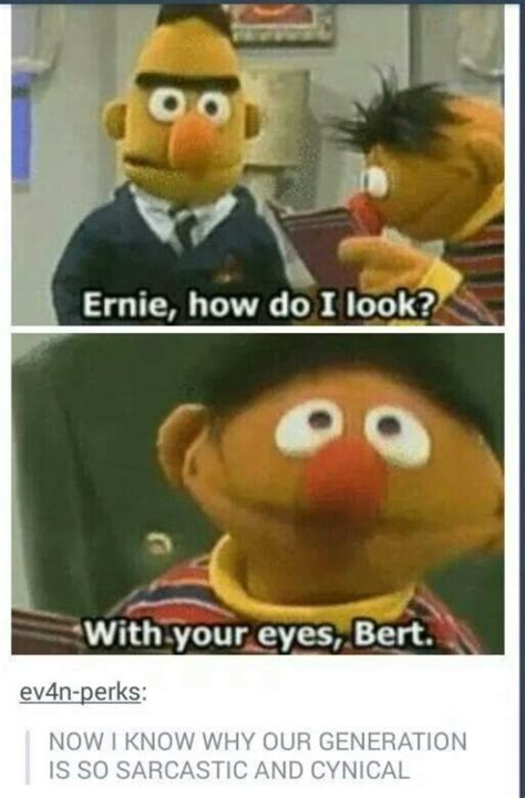 Bert And Ernie Meme - sesame street memes tumblr
