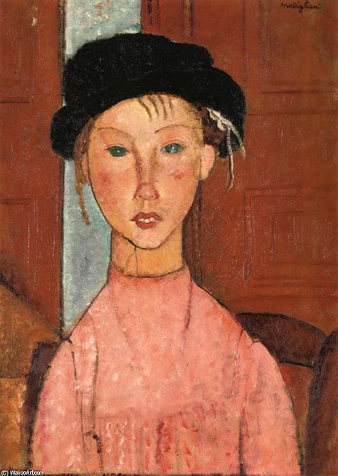 amedeo modigliani 1884 1920 the rapariga no beret 243 leo sobre tela por amedeo modigliani 1884 1920 italy