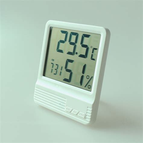 Room Temperature Meter by New Indoor Thermometer Hygrometer Alarm Clock Lcd Digital