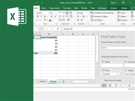 create pivot table excel 2016 microsoft excel 2016 pivot table proficiency oaks