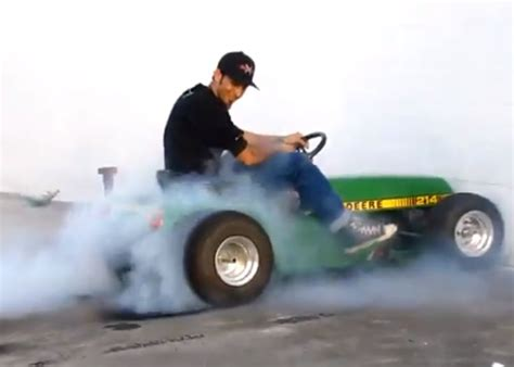 rebels and rednecks lawn mower racing the worlds fastest lawnmower do a burnout of epic