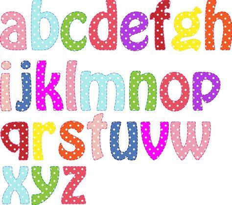 dot pattern alphabet clipart colorful alphabet lowercase letras pinterest