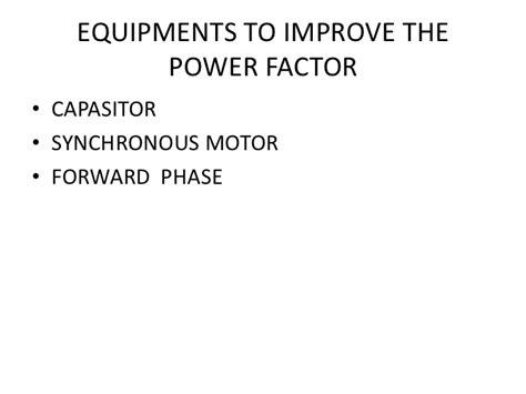 power factor correction using synchronous motor power factor correction