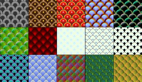 ai pattern scale 15 vector fish and serpent scale patterns by owhl on