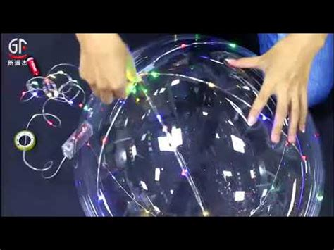 Balon Pesta Helium Led Luminious gf led light up helium balloon with multi color copper wire string lights