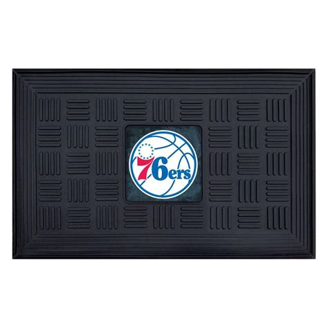 fanmats philadelphia 76ers 18 in x 30 in door mat 11422