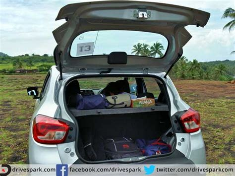 renault kwid boot space 2015 renault kwid review drive the change drivespark
