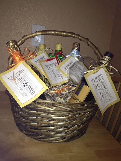 Wine Basket For Bridal Shower by