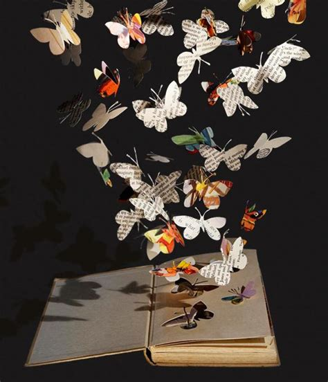 Creative Papercraft - artolar beautiful butterflies pour from the page and