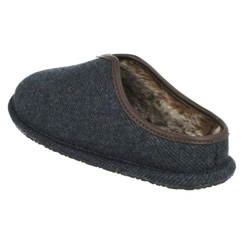 fur lined slippers mens clarks fur lined mule slippers kite lincoln ebay