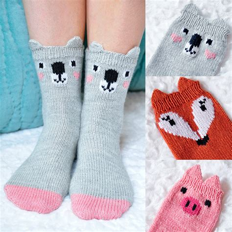 Animal Socks how to knit toe up socks tutorial knitting is awesome