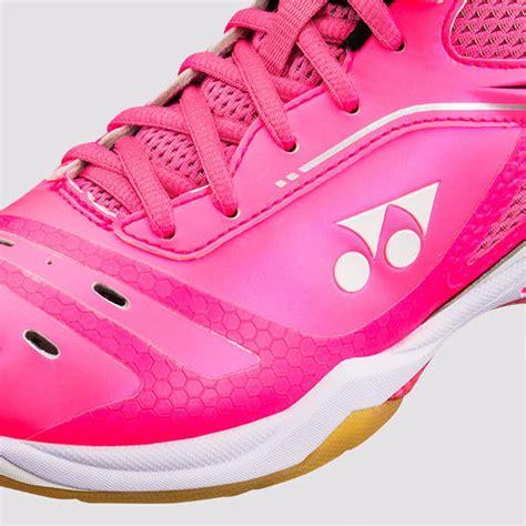 Kaos Badminton Yonex 65 Merah Pink yonex power cushion 65z shb65zl bright pink badminton store