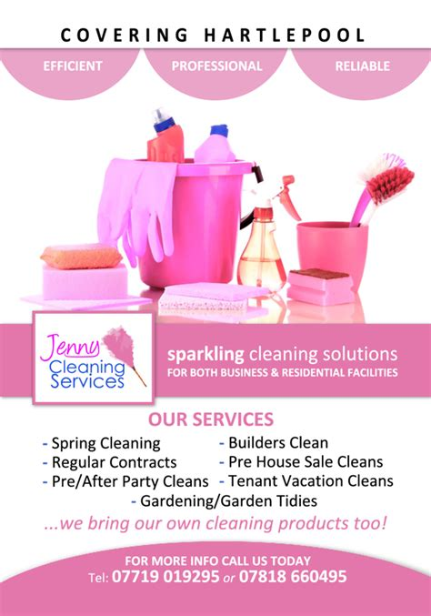 templates for cleaning flyers jenny cleaning services flyer cleaning pinterest