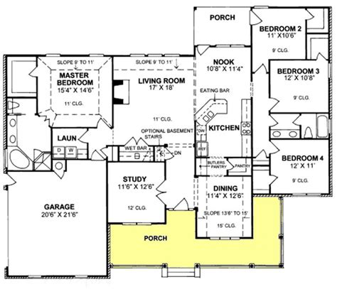 4 bedroom ranch floor plans 4 bedroom 2 bath ranch floor plans