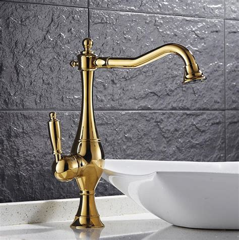 Gold Kitchen Sink Free Shipping Brass 360 Degree Nickel Or Gold Kitchen Faucet Sink Faucet With Plumping Hose